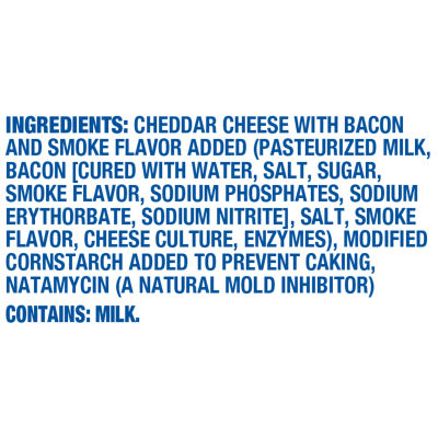 Kraft Shredded Smoky Bacon Cheddar Cheese 6.67 oz Bag