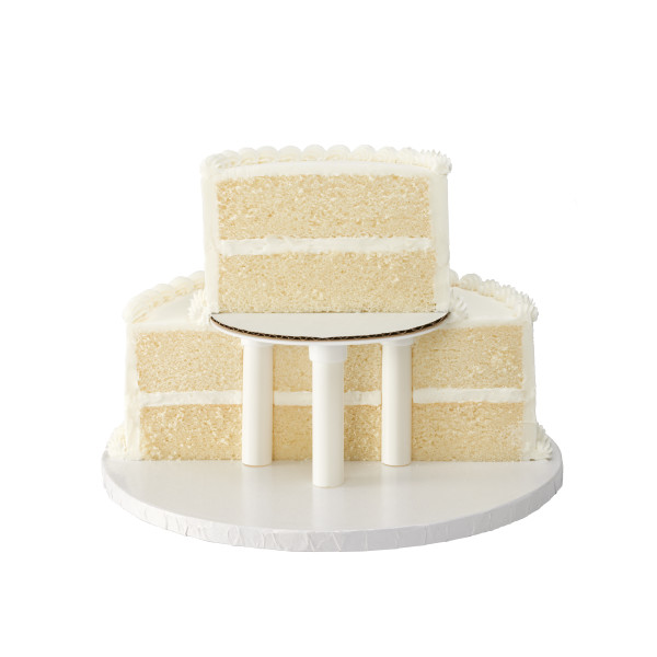 "Stacked 2-Tier Round 6"" & 10"" Cake Structure Set"