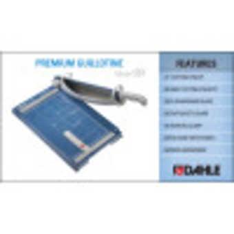 Dahle 561 Premium Guillotine InfoGraphic