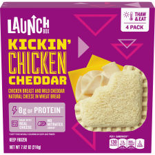 LaunchBox Kickin' Chicken & Cheddar Frozen Sandwiches, 4 ct Box