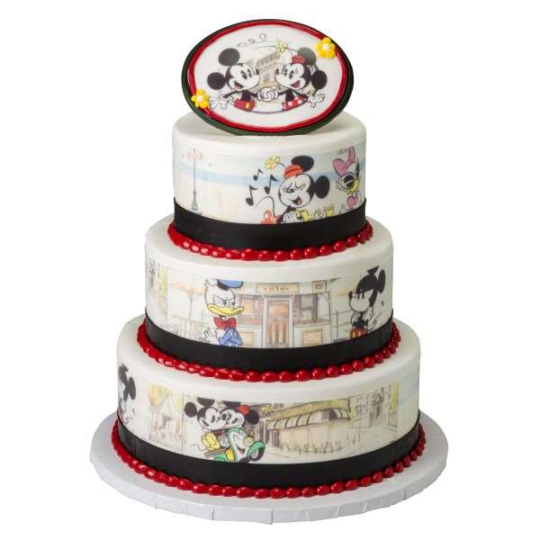 Mickey Mouse & Friends Cafe Minnie PhotoCake® Edible Image®
