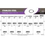 "Stainless Steel External Retaining Rings Assortment (1/4"" thru 1-1/2"" Diameter)"