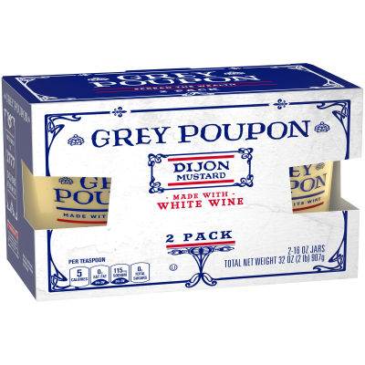 Grey Poupon Dijon Mustard 2 - 16 oz Jars