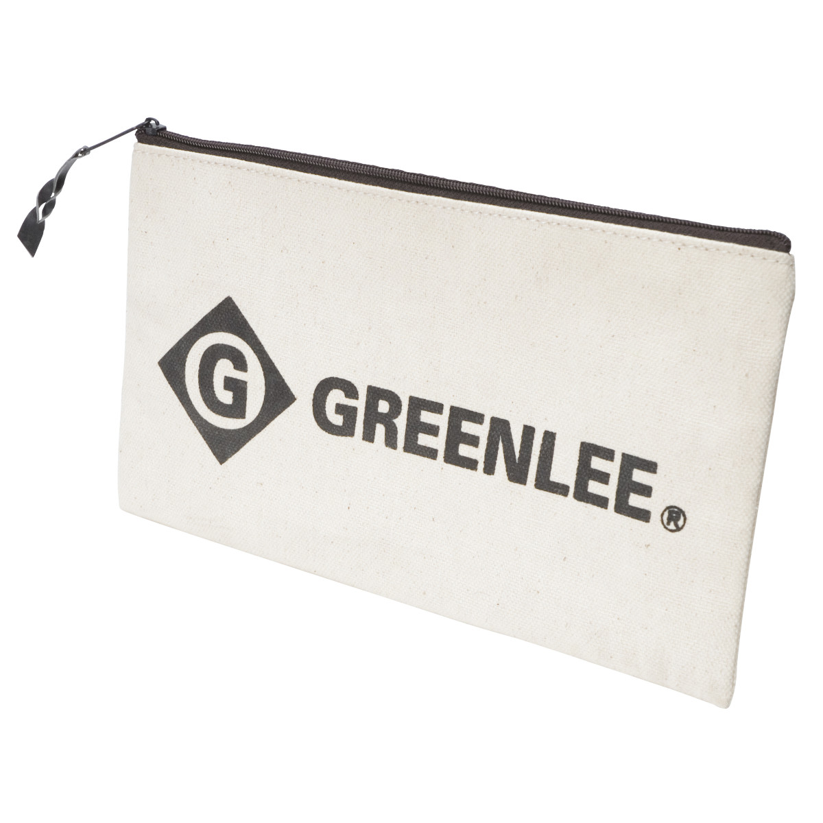 GRT0158-14 12 CANVAS ZIPPER BAG, GREENLEE