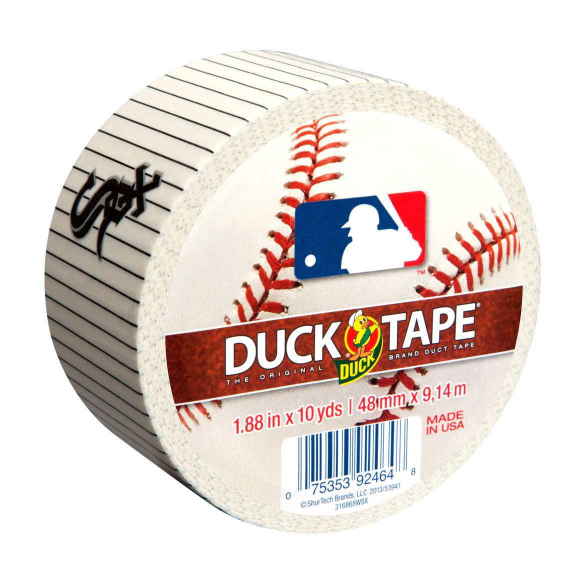 MLB Licensed Duck Tape® Brand Duct Tape - Chicago White Sox, 1.88 in. x 10 yd. Image
