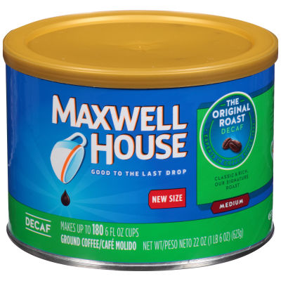 Maxwell House Decaf Original Roast Ground Coffee 22 oz Canister