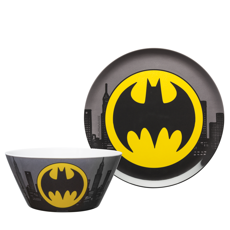 DC Comics Plate and Bowl Set, Batman, 2-piece set slideshow image 1