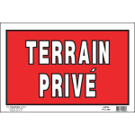 """French Private Land Sign (8"""" x 12"""")"""