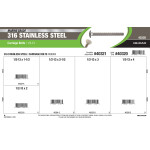 """Marine-Grade #316 Stainless Steel Carriage Bolts Assortment (1/2""""-13)"""
