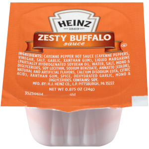 HEINZ Single Serve  Zesty Buffalo Sauce, 0.875 oz. Cups (Pack of 100) image
