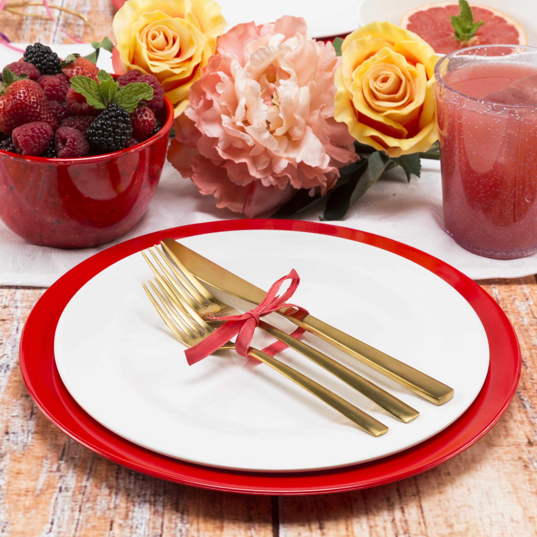 Ella Salad Plate, Eggshell White, 6-piece set slideshow image 3