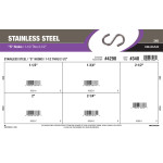 "Stainless Steel ""S"" Hooks Assortment (1-1/2"" Thru 2-1/2"")"