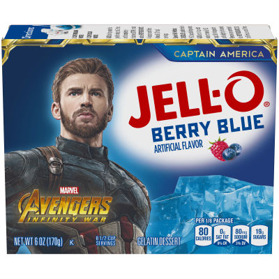 Jell-O Berry Blue Instant Powdered Gelatin Dessert, 6 oz Box