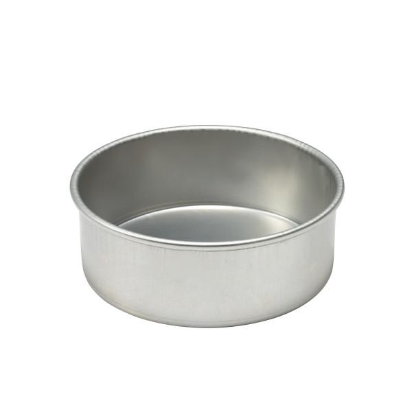 """16 Gauge Round Aluminum 8""""W x 3""""H Pan"""