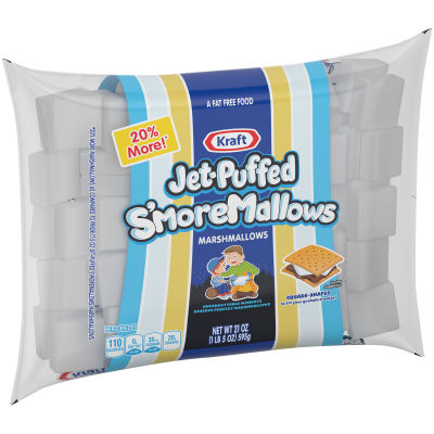 Jet-Puffed S'more Mallows Marshmallows 21 oz Wrapper