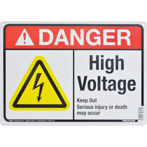 Aluminum High Voltage Danger Sign 10