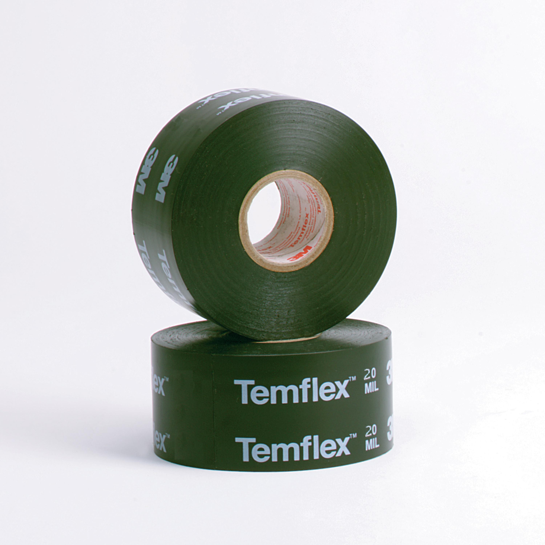 3M™ Temflex™ Vinyl Corrosion Protection Tape 1200, 2 in x 100 ft, Printed, Black, 12 rolls/Case