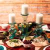 Confetti Dinner Plate, Salad Plate and Bowl Dinnerware Set, Peacock, 12-piece set slideshow image 13