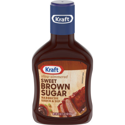 Kraft Sweet Brown Sugar Slow-Simmered Barbecue Sauce and Dip, 18 oz Bottle