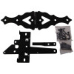Hardware Essentials Black Decorative Gate Hardware Kit