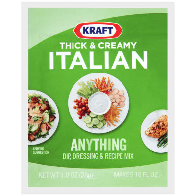Kraft Thick & Creamy Italian Dip, Dressing & Recipe Mix 16 - 1 oz Envelopes