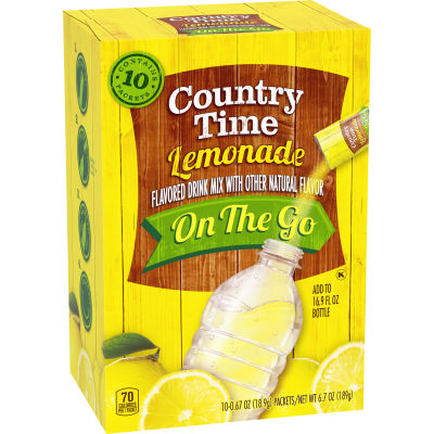 Country Time On-The-Go Sugar-Sweetened Lemonade Powdered Soft Drink 10 - 0.67 oz Packets