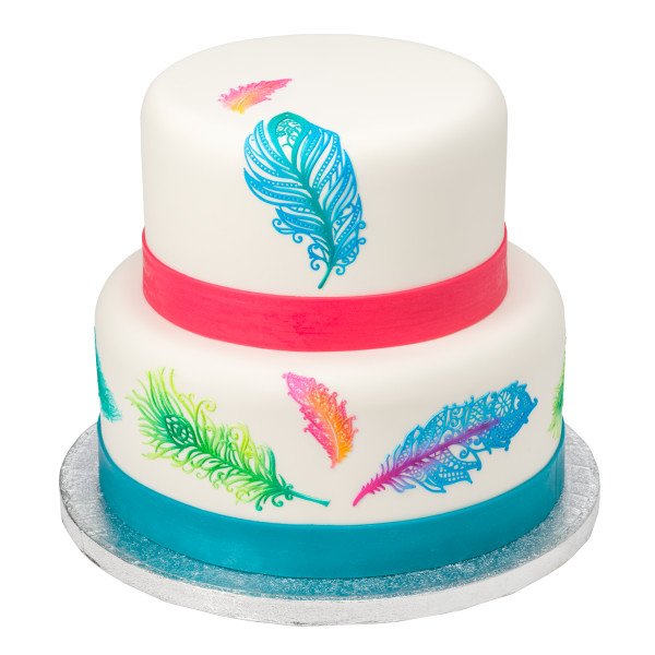 Feathers Cake Lace Silicone Mat Cutters/Molds