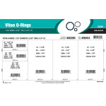 "Viton O-Ring Assortment (3/32"" to 3-1/4"" Inside diameter x 1/16"" Width)"
