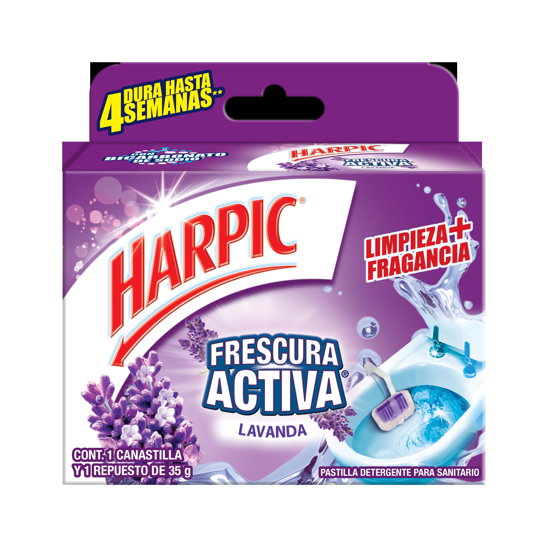 Harpic® CANASTILLA FRESCURA ACTIVA, Lavanda, 35gr