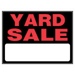 Hillman Yard Sale Sign With Boarders