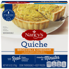 Nancy's Broccoli and Cheddar Quiche 6 oz Box