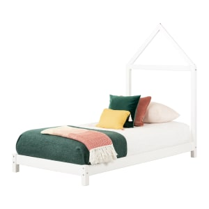 Sweedi - Bed with House Frame Headboard