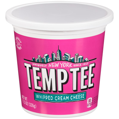 Breakstone's Temp Tee Whipped Cream Cheese 11.5 oz Tub