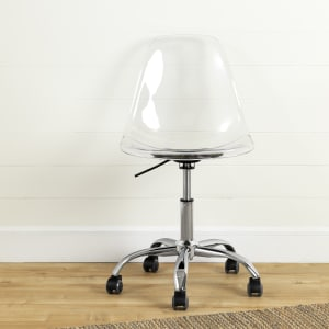 Annexe - Acrylic Office Chair with Wheels