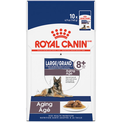 Royal Canin Size Health Nutrition Large Aging 8+ Pouch Dog Food