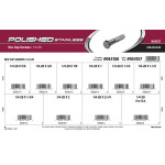 """Polished Stainless Hex Cap Screws Assortment (1/4""""-28 Thread)"""