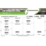 """Marine-Grade #316 Stainless Steel Carriage Bolts Assortment (1/4""""-20)"""