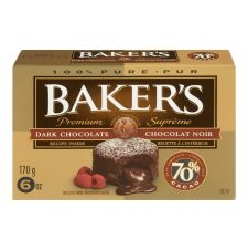 Baker's Premium 70% Dark Chocolate Baking Bar