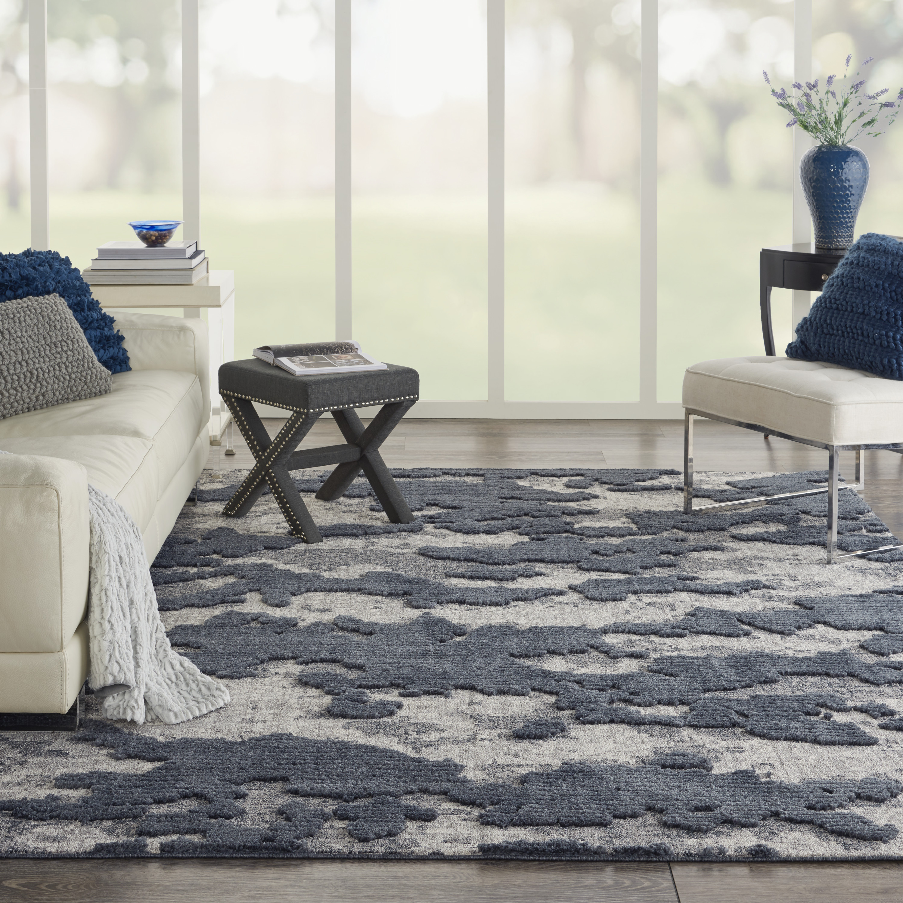 Nourison Zermatt 8' X 10' Grey Neutral  Area Rug