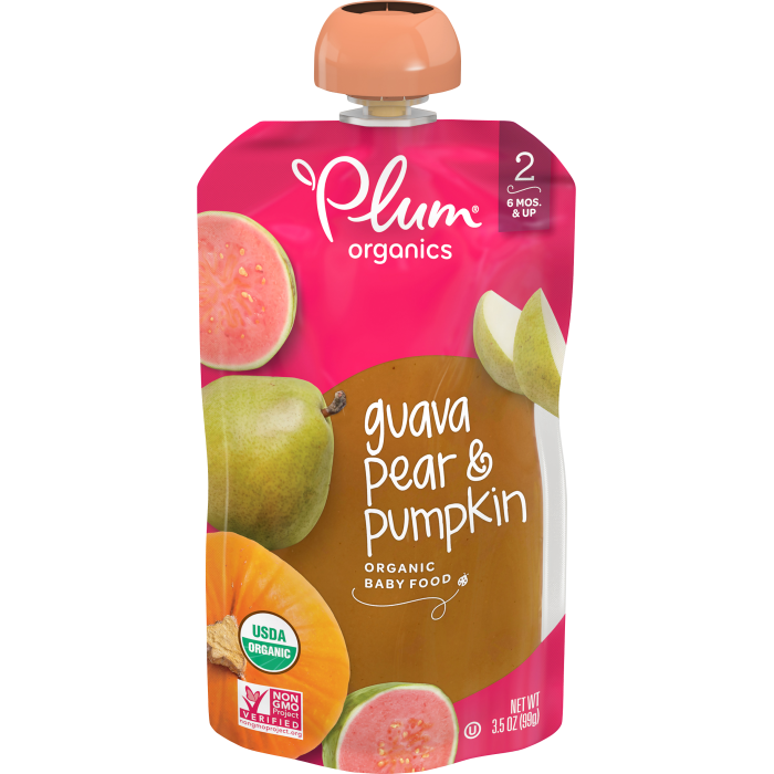 Guava, Pear & Pumpkin Baby Food