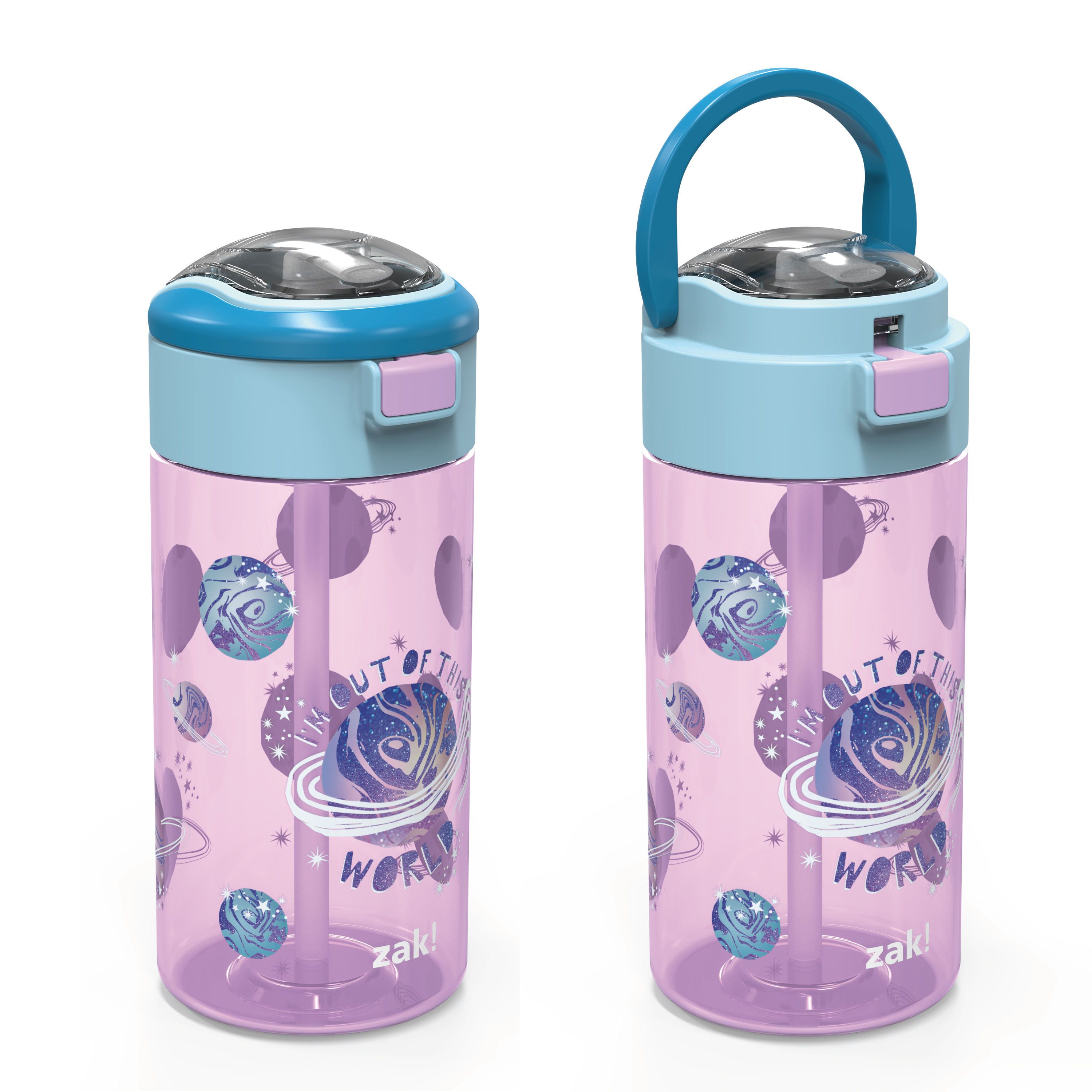 Genesis 18 ounce Water Bottles, Planet, 2-piece set slideshow image 6