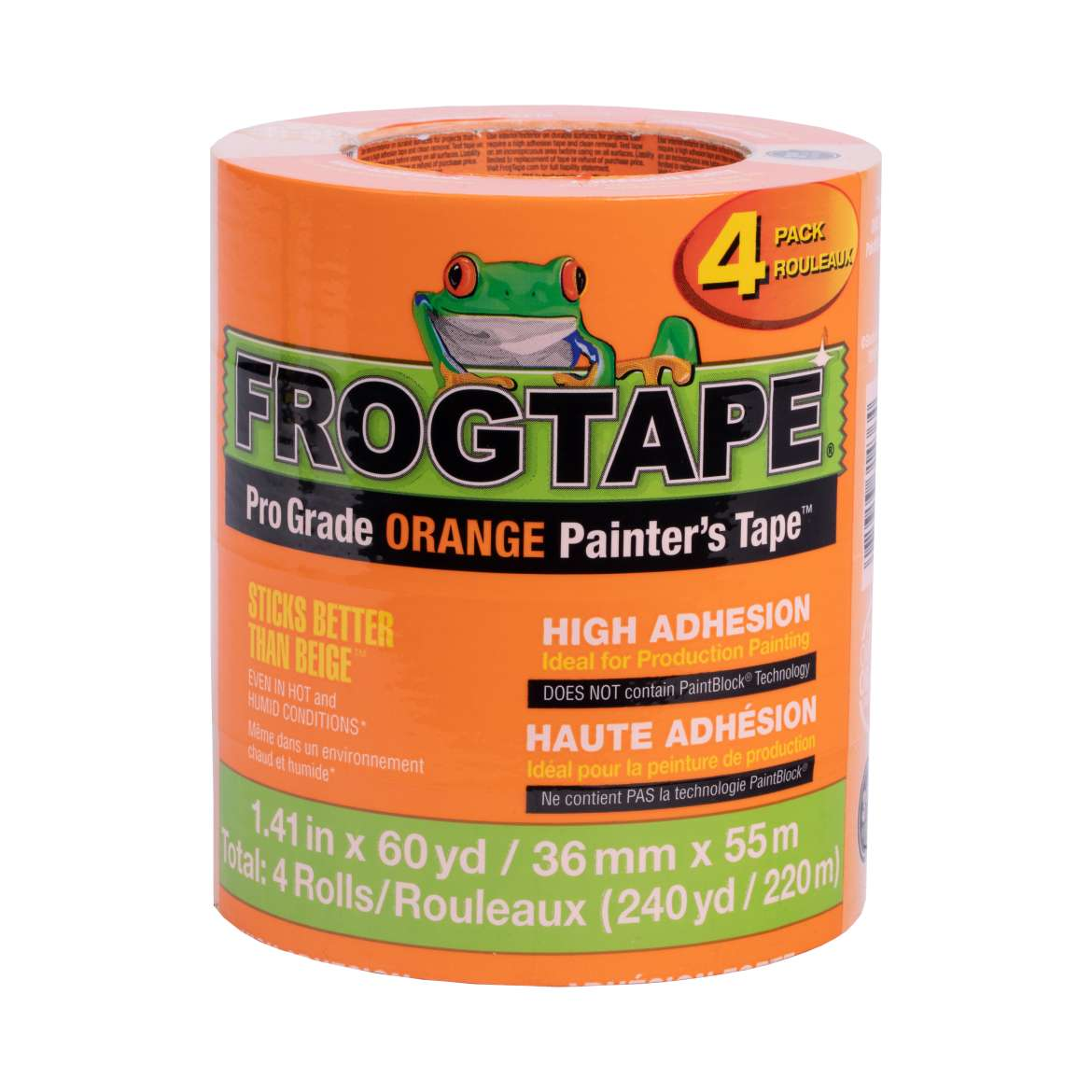 FrogTape® Pro Grade Orange Painter's Tape™ – Orange, 4 pk, 1.41 in. x 60 yd.
