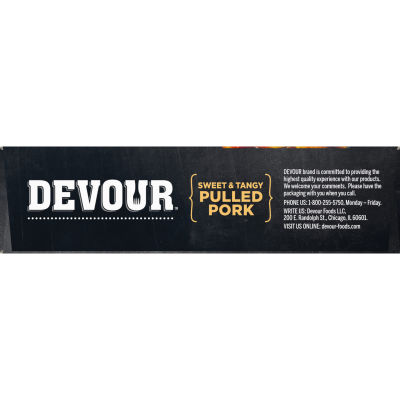DEVOUR Sweet & Tangy Pulled Pork Frozen Meal, 10 oz Box