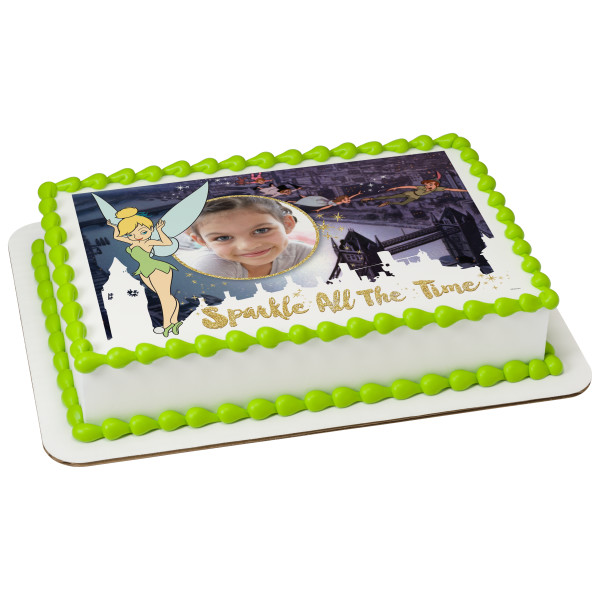 Tinker Bell Sparkle All The Time PhotoCake® Edible Image® Frame
