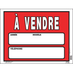 """French Car for Sale Sign (12"""" x 16"""")"""