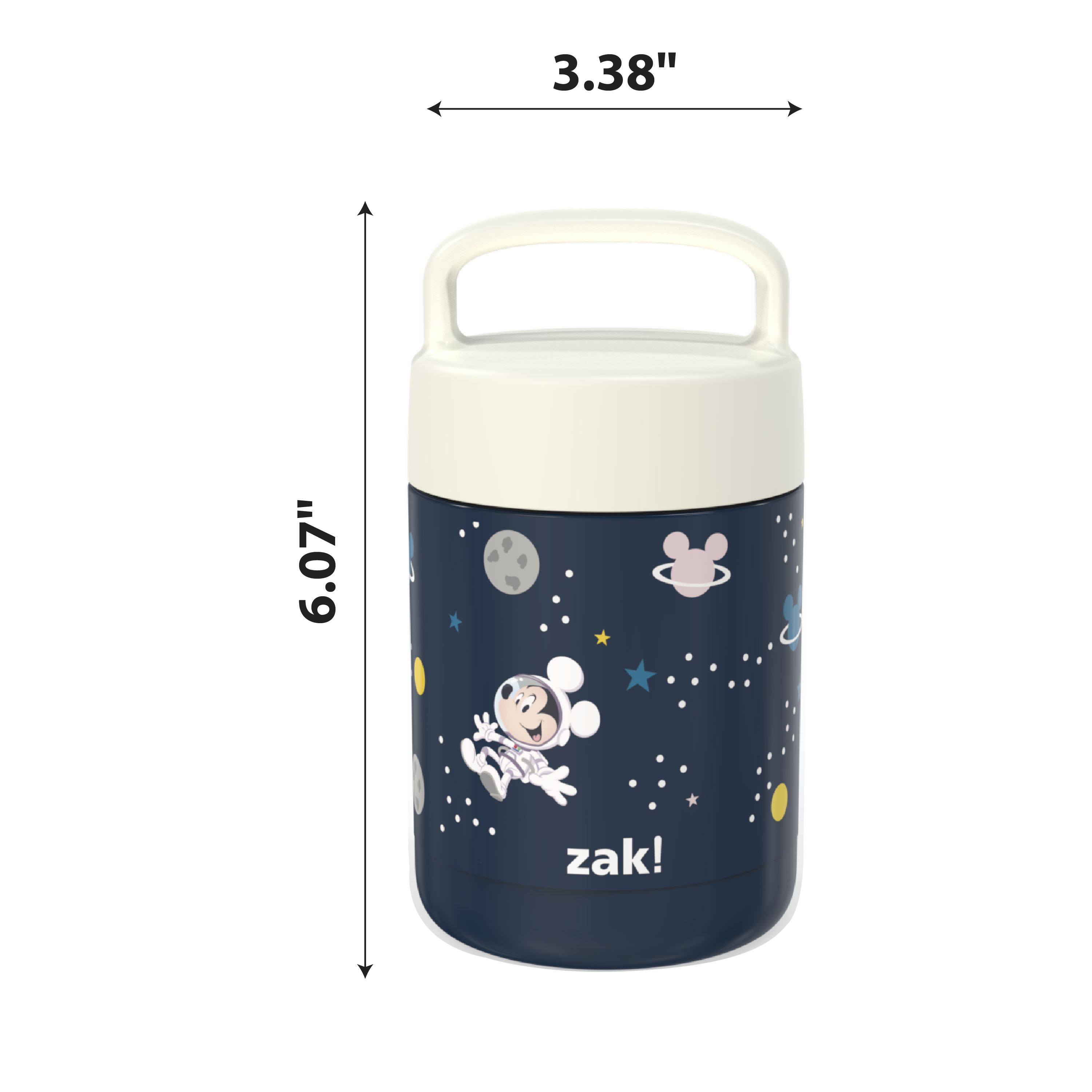 Disney Reusable Vacuum Insulated Stainless Steel Food Container, Mickey Mouse slideshow image 6