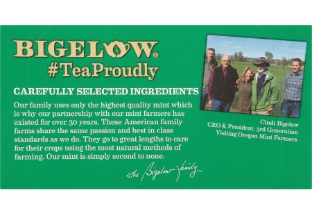 Front of Mint Medley Herbal Tea box