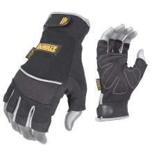 DEWALT DPG230 Synthetic Leather Technician's Fingerless Glove