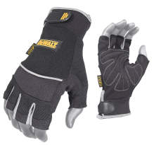 DEWALT DPG230 Synthetic Leather Technician's Fingerless Glove