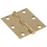 Hardware Essentials Square Corner Brass Door Hinges